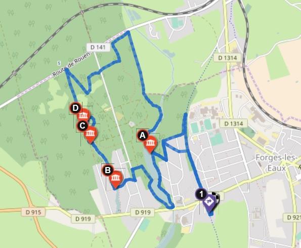 Circuit du Bois de l'Epinay : 9km